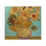 Vincent Willem Van Gogh, Dutch   Sunflowers   Google Art Project Circle 3D Greeting Card (7x5)  Front