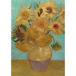 Vincent Willem Van Gogh, Dutch   Sunflowers   Google Art Project Circle 3D Greeting Card (7x5)  Inside