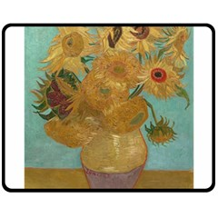 Vincent Willem Van Gogh, Dutch   Sunflowers   Google Art Project Double Sided Fleece Blanket (medium)