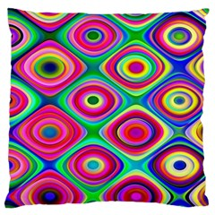 Psychedelic Checker Board Standard Flano Cushion Cases (Two Sides)  by KirstenStar