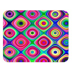 Psychedelic Checker Board Double Sided Flano Blanket (large)  by KirstenStar