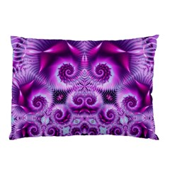 Purple Ecstasy Fractal Artwork Pillow Cases by KirstenStar