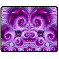 Purple Ecstasy Fractal Artwork Fleece Blanket (medium)