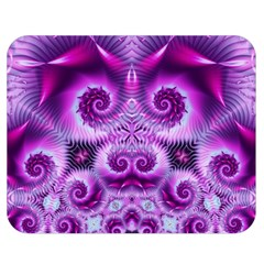 Purple Ecstasy Fractal Artwork Double Sided Flano Blanket (medium)  by KirstenStar