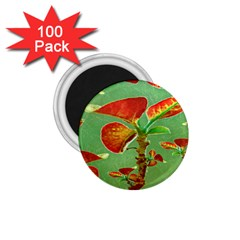 Tropical Floral Print 1 75  Magnets (100 Pack)  by dflcprints