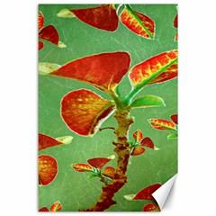 Tropical Floral Print Canvas 24  X 36  by dflcprints