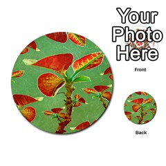 Tropical Floral Print Multi Purpose Cards (round)  by dflcprints