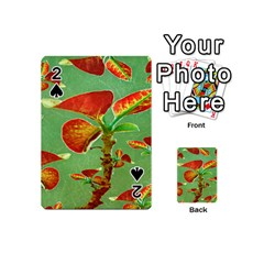 Tropical Floral Print Playing Cards 54 (mini)  by dflcprints