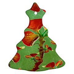 Tropical Floral Print Christmas Tree Ornament (2 Sides) by dflcprints
