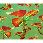 Tropical Floral Print Deluxe Canvas 14  x 11  14  x 11  x 1.5  Stretched Canvas
