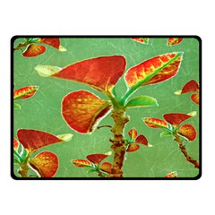 Tropical Floral Print Double Sided Fleece Blanket (small)  by dflcprints