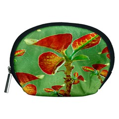 Tropical Floral Print Accessory Pouches (medium)  by dflcprints
