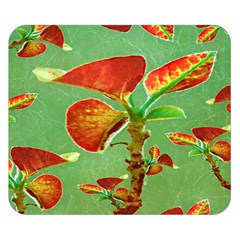 Tropical Floral Print Double Sided Flano Blanket (small)