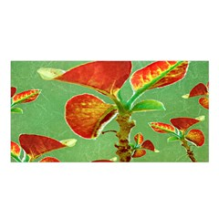 Tropical Floral Print Satin Shawl by dflcprints