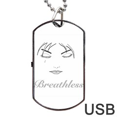 Breathless Dog Tag Usb Flash (two Sides)  by morbidcandy