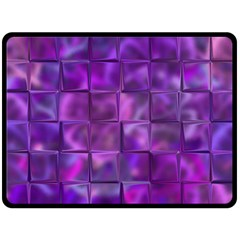 Purple Square Tiles Design Double Sided Fleece Blanket (large)  by KirstenStar