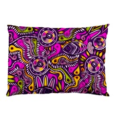 Purple Tribal Abstract Fish Pillow Cases (two Sides) by KirstenStar