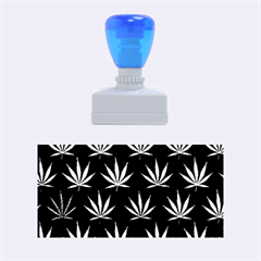 Cannabis Leaf Multi Col Pattern Rubber Stamps (Medium)  by ScienceGeek