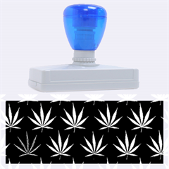 Cannabis Leaf Multi Col Pattern Rubber Address Stamps (xl) by ScienceGeek