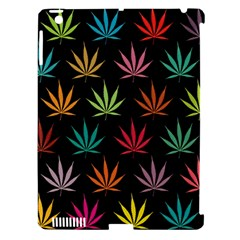 Cannabis Leaf Multi Col Pattern Apple Ipad 3/4 Hardshell Case (compatible With Smart Cover) by ScienceGeek