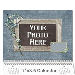 2016 My Blue Inspiration Calendar By Lisa Minor   Wall Calendar 11  X 8 5  (12 Months)   Fb2a40nuzjmn   Www Artscow Com Cover