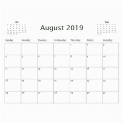 2019 Bwp Calendar By Lisa Minor   Wall Calendar 11  X 8 5  (12 Months)   Hxqdfkagz05y   Www Artscow Com Aug 2019