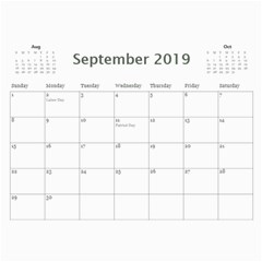 2019 Calendar Yard Work By Lisa Minor Sep 2019