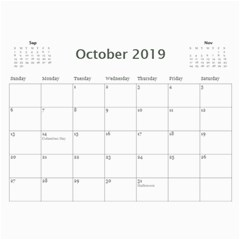 2019 Calendar Yard Work By Lisa Minor Oct 2019