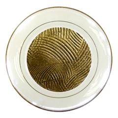 Brushed Gold 050549 Porcelain Plates by AlteredStates