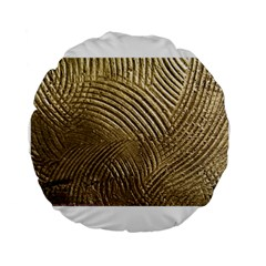 Brushed Gold 050549 Standard 15  Premium Round Cushions by AlteredStates
