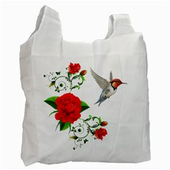 Red Roses Decor Clipart Recycle Bag (One Side) by AlteredStates
