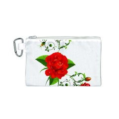 Red Roses Decor Clipart Canvas Cosmetic Bag (s) by AlteredStates