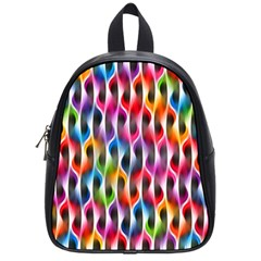 Rainbow Psychedelic Waves  School Bags (small)  by KirstenStar