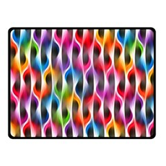 Rainbow Psychedelic Waves  Fleece Blanket (small)