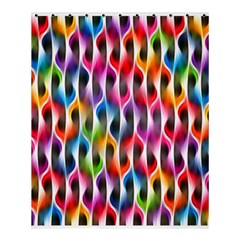 Rainbow Psychedelic Waves  Shower Curtain 60  X 72  (medium)  by KirstenStar