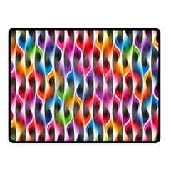 Rainbow Psychedelic Waves  Double Sided Fleece Blanket (small)  by KirstenStar
