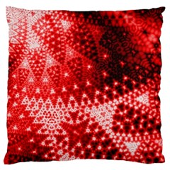 Red Fractal Lace Standard Flano Cushion Cases (two Sides)  by KirstenStar