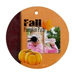 fall - Round Ornament (Two Sides)