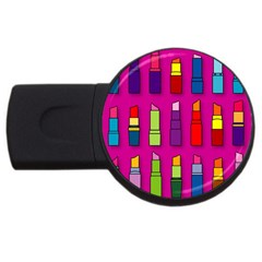 Lipsticks Pattern USB Flash Drive Round (4 GB)  by theimagezone