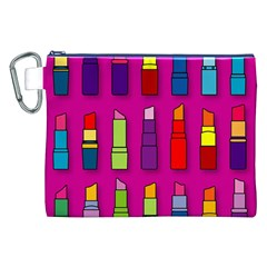 Lipsticks Pattern Canvas Cosmetic Bag (xxl)