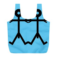 Love Men Icon Full Print Recycle Bags (L)  by thisisnotme
