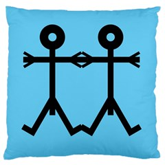 Love Men Icon Large Flano Cushion Cases (two Sides)  by thisisnotme