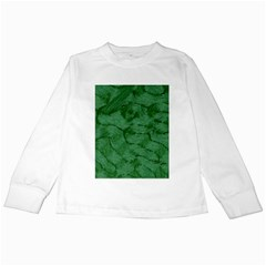 Woven Skin Green Kids Long Sleeve T Shirts by InsanityExpressed