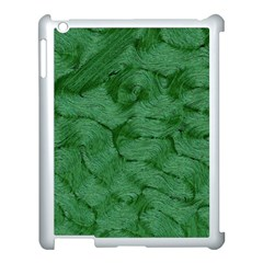 Woven Skin Green Apple Ipad 3/4 Case (white) by InsanityExpressed