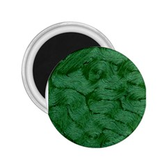 Woven Skin Green 2.25  Magnets by InsanityExpressed
