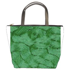 Woven Skin Green Bucket Bags by InsanityExpressed