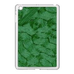 Woven Skin Green Apple Ipad Mini Case (white) by InsanityExpressed