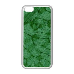 Woven Skin Green Apple Iphone 5c Seamless Case (white) by InsanityExpressed