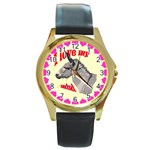 Mini donk Round Gold Metal Watch