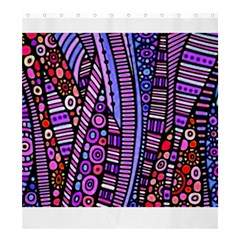 Stained Glass Tribal Pattern Shower Curtain 66  X 72  (large)